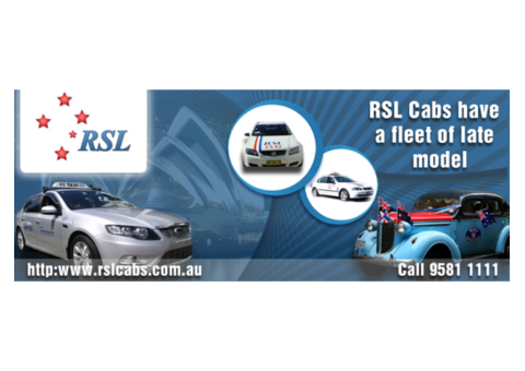 Book Taxi Sydney or Sydney Cabs Online with RSL Cabs