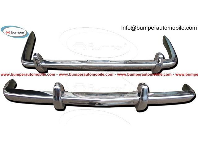 Rolls Royce Silver Shadow bumper (1965-1977) in stainless steel - 1/4