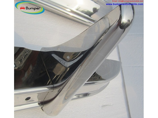 Citroen 2CV bumper (1948–1990) in stainless steel - 3/4