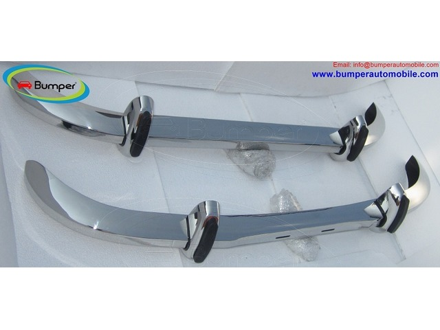Saab 96 bumper (1965 – 1970) by stainless steel - 1/5