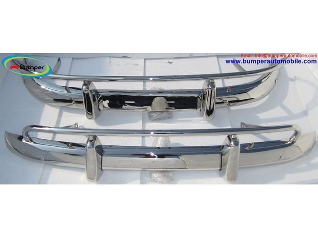 Volvo PV 544 US type bumper (1958-1965) in stainless steel - 1/4