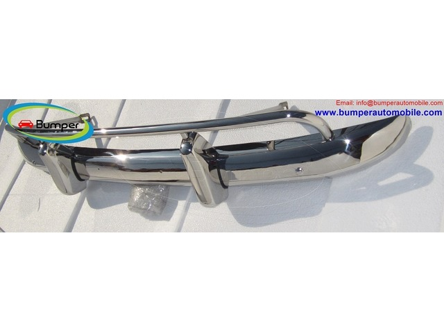 Volvo PV 544 US type bumper (1958-1965) in stainless steel - 2/4