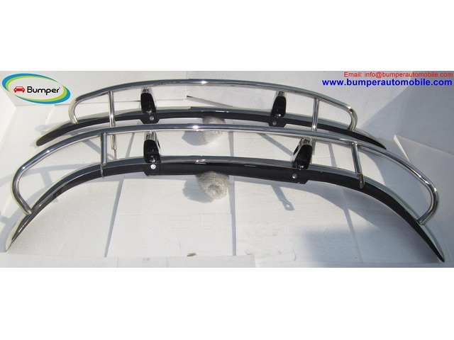 Volvo PV 544 US type bumper (1958-1965) in stainless steel - 3/4