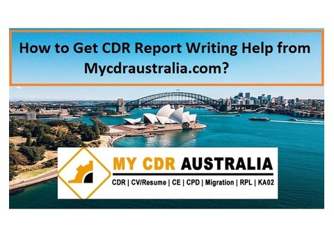 Get CDR Report Writing Help from Mycdraustralia.com
