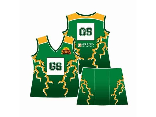 Netball dresses Perth, Custom made netball uniforms and Sports clothing - Mad Dog Promotions - 4/4